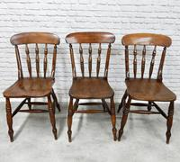 Set of 6 Antique Spindleback Kitchen / Dining Chairs (5 of 8)