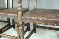 6 Cromwellian Style Brown Leather Dining Chairs (7 of 12)