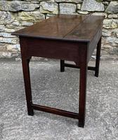 Antique Georgian Oak Side Table (6 of 14)