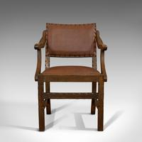 Set of 8, Antique Dining Chairs, Oak, Seat, Arts & Crafts, Hamptons, Edwardian (11 of 11)