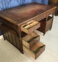 Victorian Oak Aesthetic Movement Desk (15 of 18)