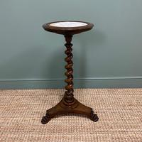 High Quality Barley Twist Victorian Mahogany Antique Occasional Table (4 of 7)