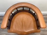 Charming Traditional Victorian Style Tan Brown Office Captains Bankers Chair (7 of 42)
