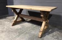 Small French Oak Farmhouse Kitchen Dining Table (11 of 11)
