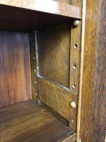 19th Century Antique Oak Breakfront Glazed Bookcase (9 of 15)