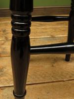 Set of Three Vintage Ebonized Stools (4 of 12)