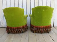 Pair of French Antique Napoleon III Tub Armchairs (7 of 10)