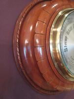 Antique Polished Mahogany Negretti & Zambra Barometer (3 of 7)