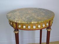 Good Louis XVI Style Marble & Kingwood Lamp Table (8 of 8)