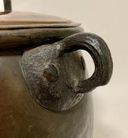 Large Antique Copper Cauldron with Lid (10 of 16)