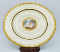Antique Mintons Porcelain Gold Boarded Dinner Plate Hand Painted & 24ct Gilt