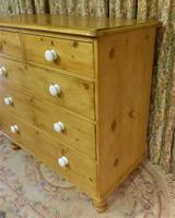 Victorian Stripped Pine Chest of Drawers - Carriage Paid Most Areass (5 of 9)