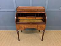 Maple & Co Inlaid Mahogany Tambour Cylinder Desk (11 of 22)