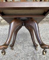 Antique Mahogany Swivel Office Desk Chair (11 of 12)