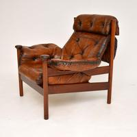 1960's Vintage Guy Rogers Leather Armchair (3 of 9)