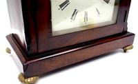 Unusual & Rare Mahogany Bracket Clock Taj Mahal Bezel & Dial Mantel Clock (6 of 10)