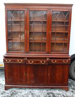 1960s 3 Door Mahogany Bookcase with Glazed Top (2 of 5)