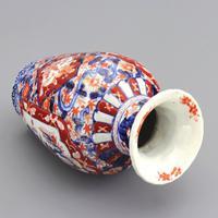 19th Century Japanese Meiji Period Reeded Imari Vase c1880 (6 of 8)