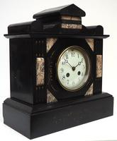 Antique French Slate Mantel Clock 8-Day Striking Mantle Clock c.1900 (2 of 5)