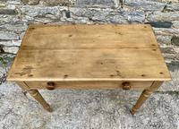 Antique Pine Side Table with Drawer (3 of 14)