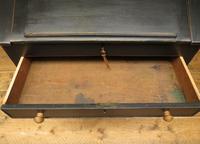 Antique Painted Black Clerks Desk (16 of 17)