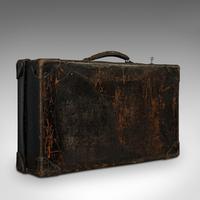 Antique Suitcase, English, Leather, Travel, Salesman, Officer, Case, Edwardian (7 of 10)