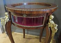French Circular Bijouterie Table in Walnut & Kingwood 19th Century (5 of 9)