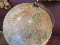 "Antique 8"" Paper Mache Terrestrial Globe (3 of 8)"
