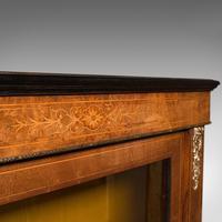 Antique Pier Cabinet, English, Walnut, Inlay, Display Cupboard, Victorian, 1870 (9 of 12)