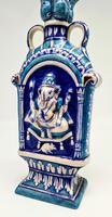 Vintage Bombay Porcelain Vase Featuring Hindu God Ganesh Standing on a Mouse (6 of 8)