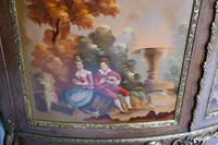 French Display Cabinet Vernis Martin Painted Bijouterie c.1900 (4 of 16)