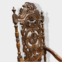17th Century High Back Armchair (4 of 14)
