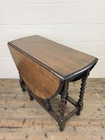 Early 20th Century Antique Oak Gateleg Table (2 of 12)