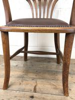Pair of Early 20th Century Oak & Leather Desk Chairs (10 of 10)