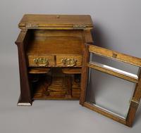 Antique Art Nouveau Oak Smokers Cabinet (4 of 13)
