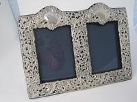 Unusual Victorian Double Photo Frame with Two Empty Cartouche (4 of 6)