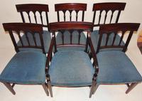 Set 6 Scottish Georgian Mahogany Dining Chairs (8 of 8)