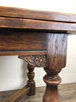Extending Oak Draw Leaf Refectory Dining Table (9 of 17)