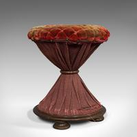 Antique Upholstered Stool, English, Walnut, Footstool, Tabouret, Regency, 1820 (6 of 9)