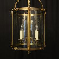 French Gilded Bronze Antique Hall Lantern (5 of 10)