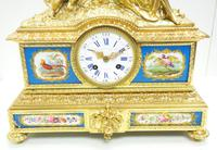 Antique 8 Day Ormolu Mantel Clock Sevres Mother & Child French Mantle Clock (13 of 16)