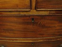 Antique 19th century Mahogany Bow Chest of Drawers, Country House Chest (14 of 18)