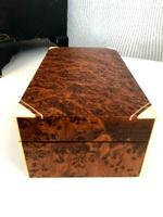 Art Deco Burr Walnut Trinket / Tobacco Box (3 of 7)