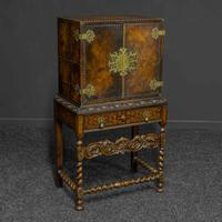 Late Victorian Leather Bound Cupboard on Stand (2 of 10)