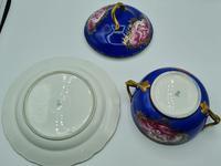 Dresden 19th Century Porcelain Ecuelle, Antique German Porcelain Covered Bowl Plate (5 of 7)