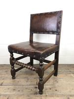 Set of Six Oak & Leather Dining Chairs (13 of 23)