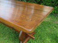 Large French Oak Refectory Dining Table (11 of 12)