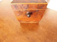 Georgian Burr Yew Wood Tea Caddy (4 of 11)