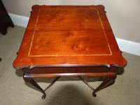Inlaid Mahogany Occasional / Lamp Table (3 of 5)