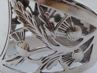 Pair of Walker & Hall Scottish Thistle 1927 Silver Napkin Rings Serviette Ring (7 of 9)